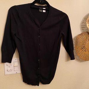 Nordstrom BP Black Short Button Up Cardigan